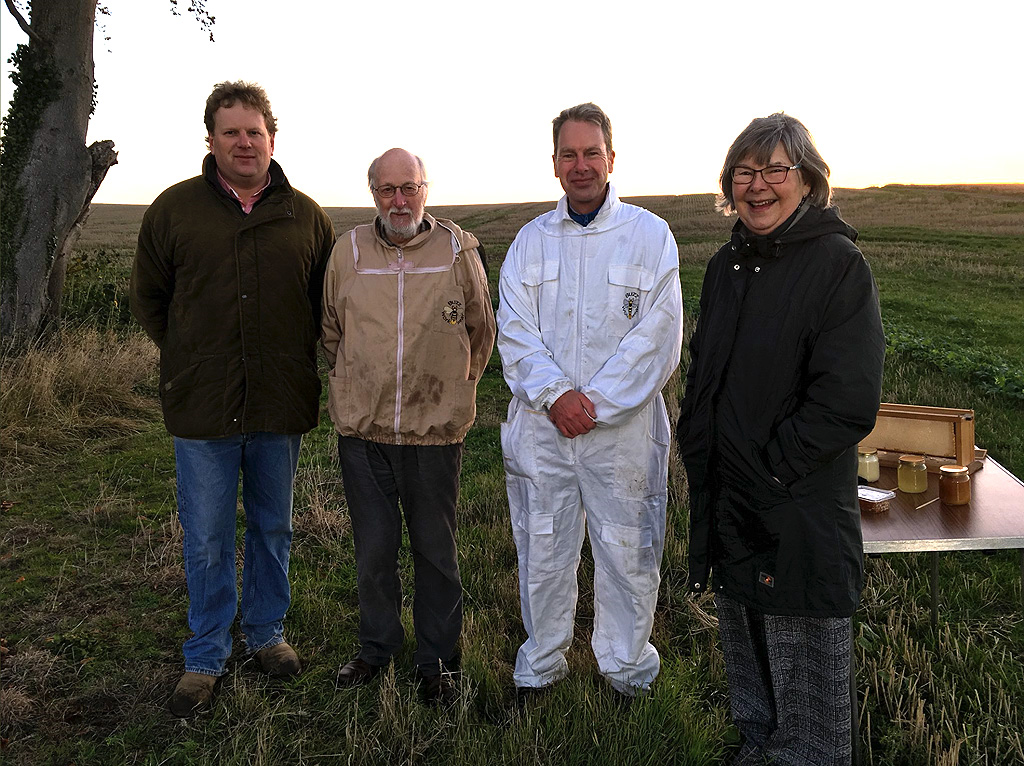 BBC Breakfast with beekeepers on farm of Alnwick grower David Park