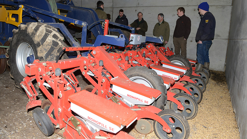 Chris Eglington's farm designed precision OSR drill