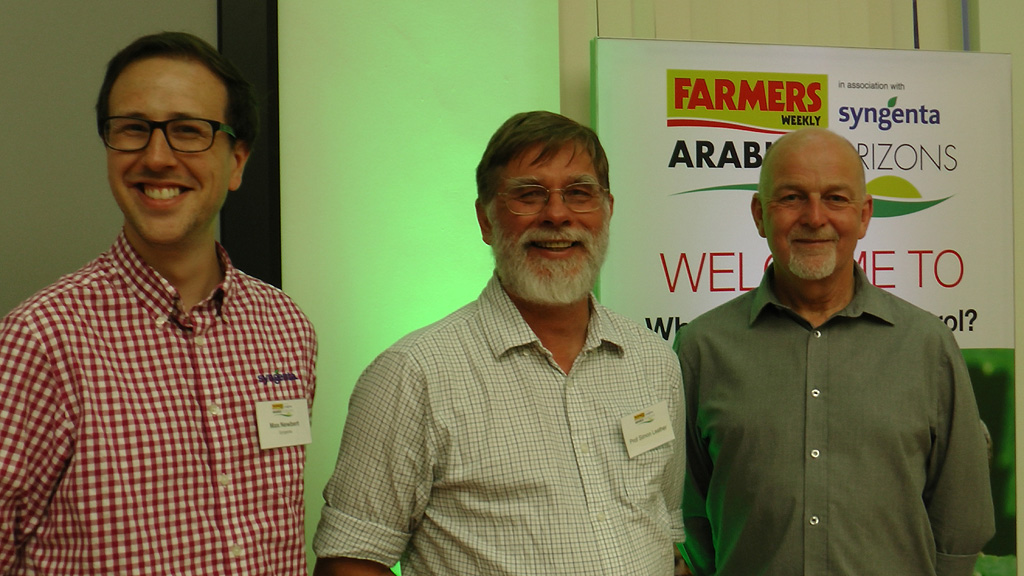 Future Farming Biocontrol speakers - Max Newbert, Simon Leather, Roy Jacobson