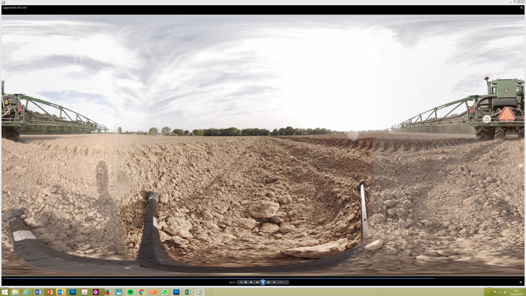 360 view of pre-em herbicide application