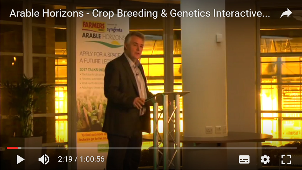Farmers Weekly Editor Karl Schnieder at Arable Horizons event