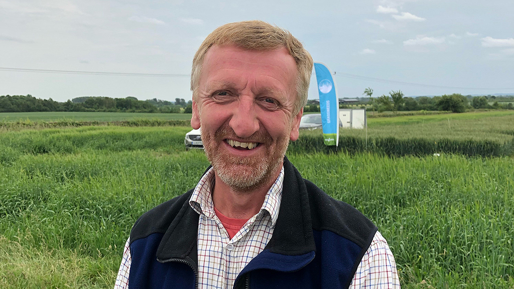 James Evans at Barton Black grass Focus Site