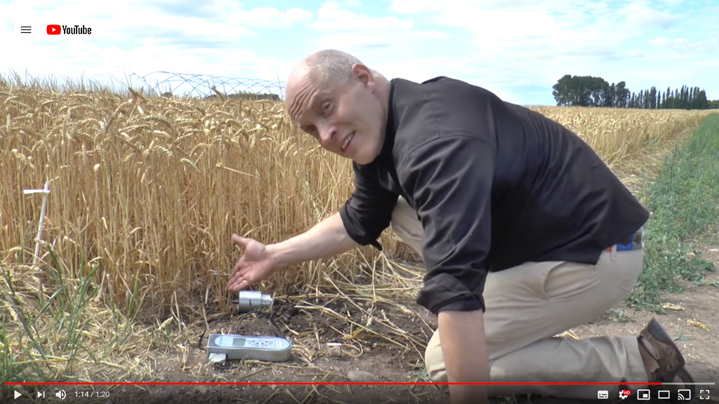Dr Mitch Crook scientifically measures risks for crop lodging