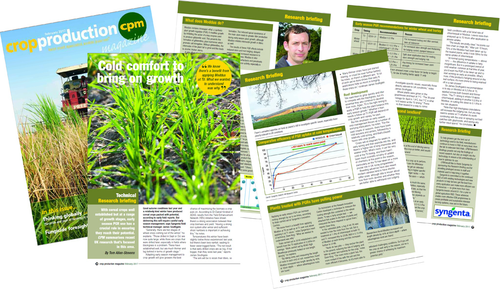 CPM cereal PGR feature pages
