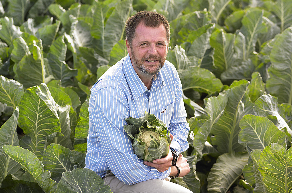Simon Jackson in cauliflowers