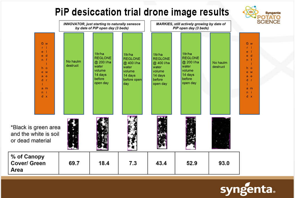 PiP Reglone desiccation trial drone image results