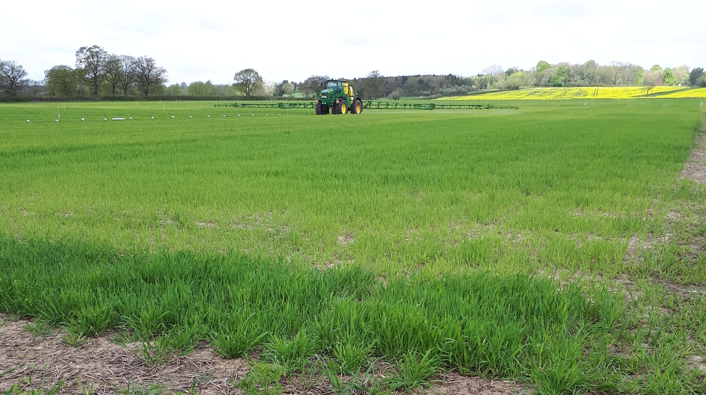 A second dose of nitrogen was applied to wheat and barley alongside T0 on wheat and T1 on barley.