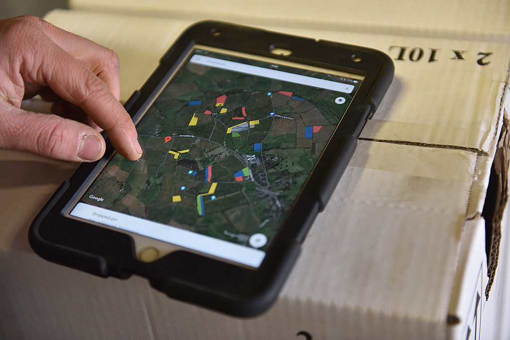 Farm maps on iPad shows stewardship features
