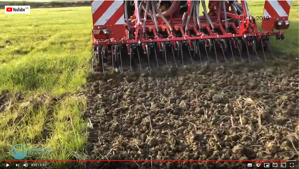 Plot drilling at Syngenta Ryegrass Focus Site 2019