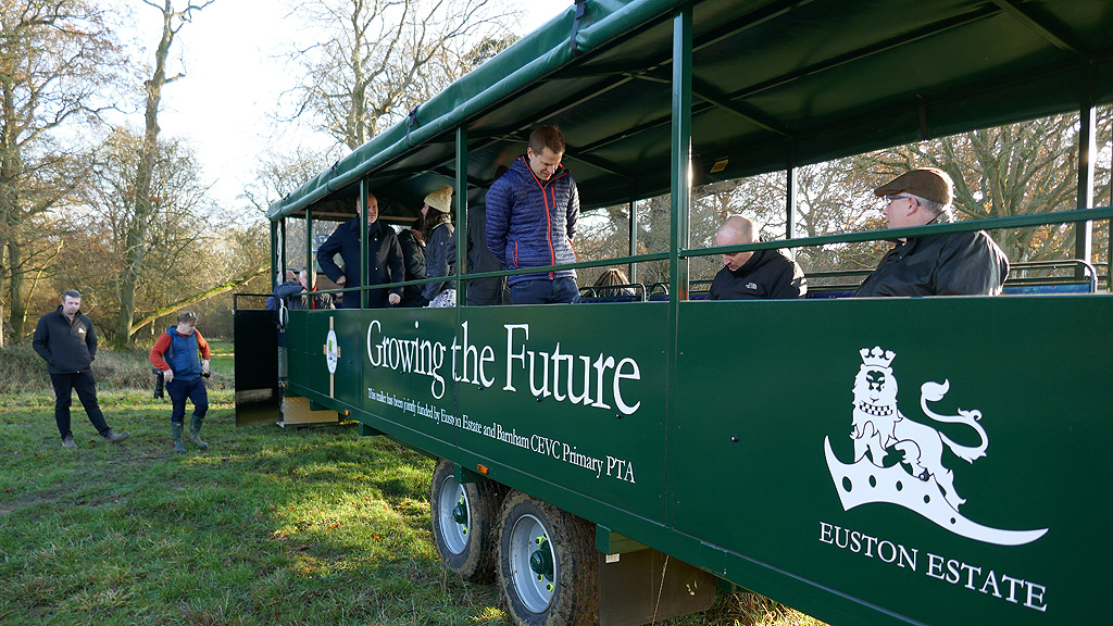 Euston Estate farm tour trailer