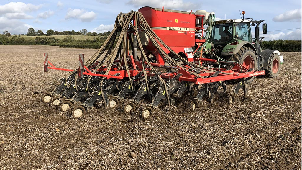 Dale direct drill in stubble