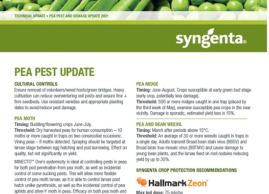 Syngenta Pea Pest and Disease Technical Update 2021