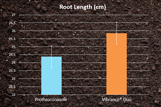 Root Length - prothioconazole vs Vibrance Duo
