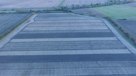Drone shot of cultivation trial