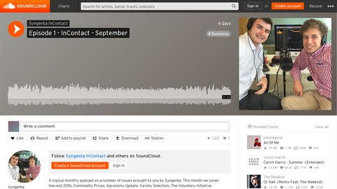 Syngenta InContact podcast screen