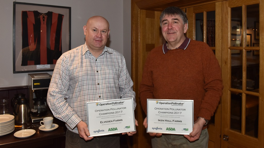 Andrew Francis and Richard Mann - winners of the Operation Polinator Green Headlands Awards