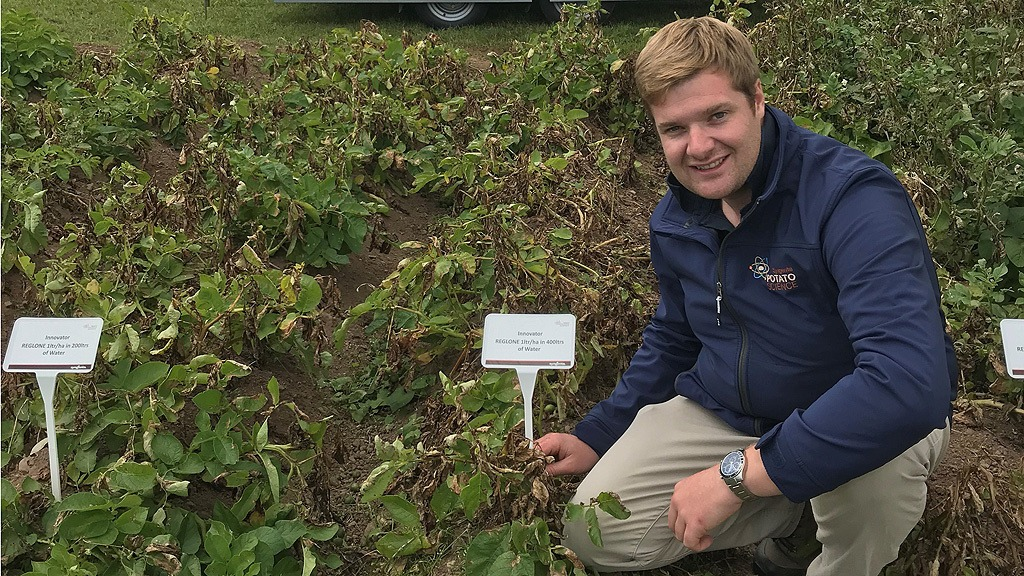 James Thomas at PiP  sc 1 st  Syngenta & Canopy cover check for desiccation decision | Syngenta