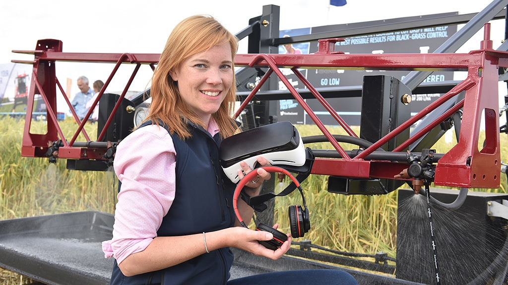 Mel Wardle with VR 360 video at Cereals 2018