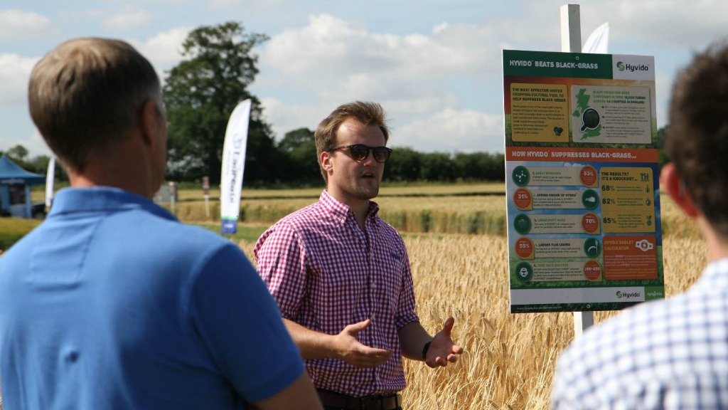 Area Manager Ben Dickinson explains the role of hybrid barley in black-grass control