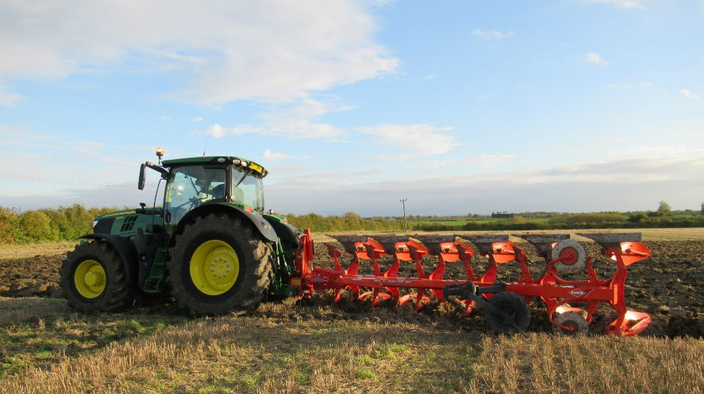 Cultivator ploughing
