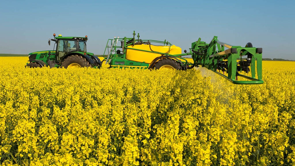 OSR spraying in flower
