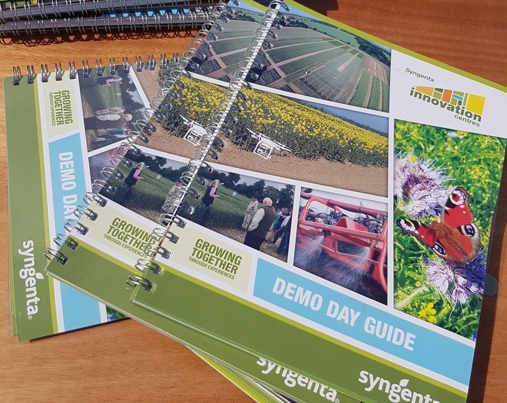 Our packed Demo Day Guide farmers can scribble in as they walk through the trials