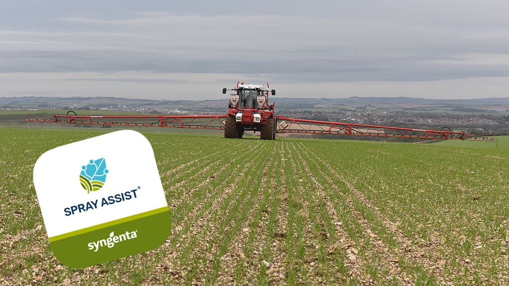 Spring herbicide application in wheat with Spray Assist icon